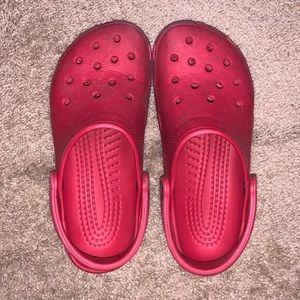 Red Crocs Size 8